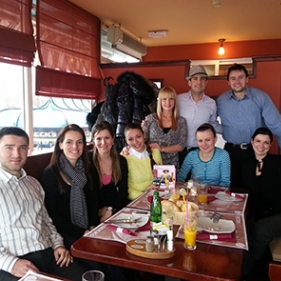 March 2013: Team lunch at Balkan Express restaurant